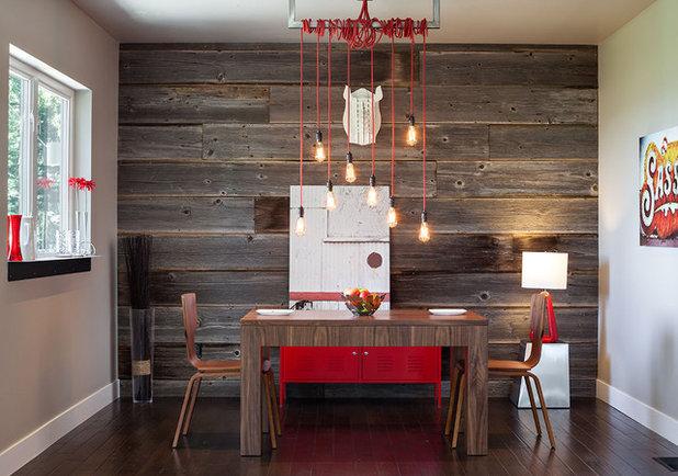 Modern Esszimmer By Jordan Iverson Signature Homes With Holz Auf Alt  Trimmen Mit Kaffee.