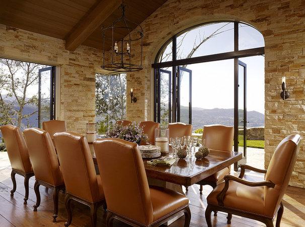 Mediterranean Dining Room by Tucker & Marks