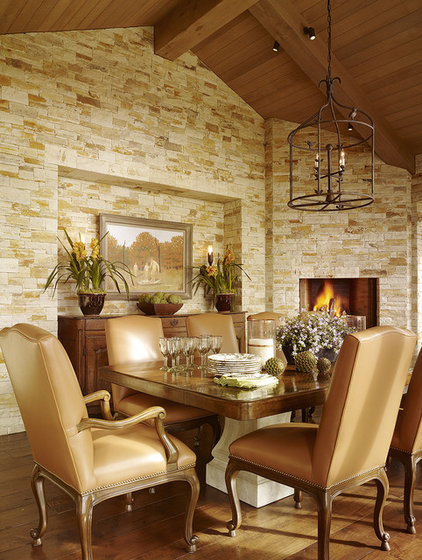 Mediterranean Dining Room by Tucker & Marks