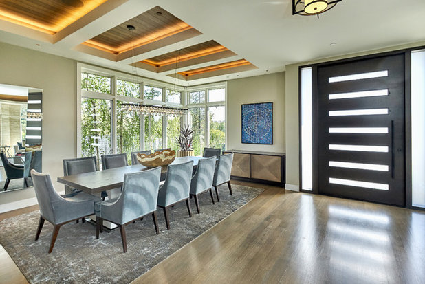 Contemporary Dining Room by Roberta Wilson