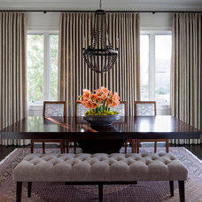 Transitional Dining Room by Buckingham Interiors + Design LLC