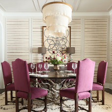 Contemporary Dining Room by Summer Thornton Design, Inc