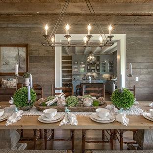 Dining room - farmhouse dining room idea in Nashville