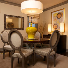 Traditional Dining Room by Susan Brunstrum of SWEET PEAS DESIGN INC