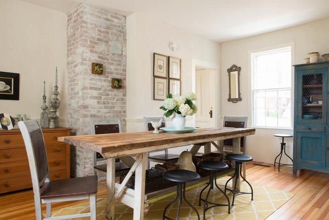 Farmhouse Dining Room by Lisa Teague Design Studios