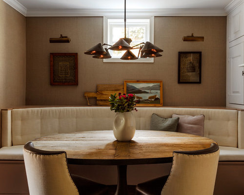 Traditional Dining Room Idea In Philadelphia With Beige Walls