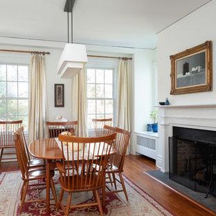 Mid Sized Elegant Medium Tone Wood Floor And Brown Great Room Photo In Philadelphia