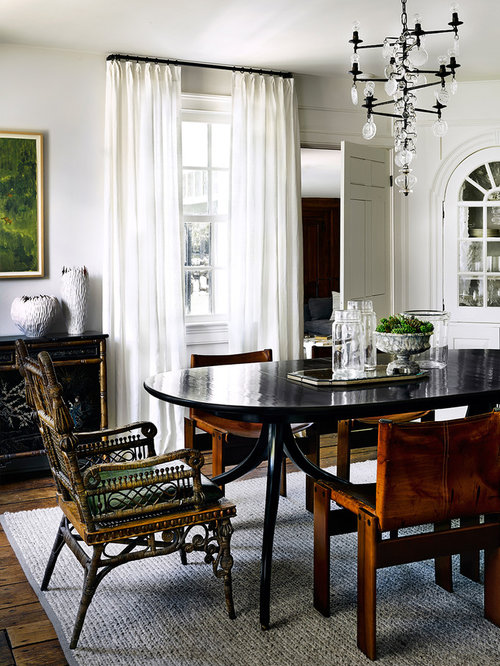 Home Design And Decor Ideas home salon ideas youtube Example Of A Classic Dining Room Design In Chicago With White Walls And Medium Tone Hardwood