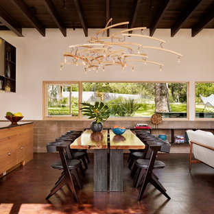 Inspiration For A Contemporary Great Room Remodel In Austin With White Walls