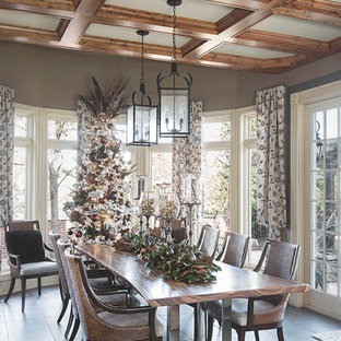 This is an example of a traditional dining room in St Louis.