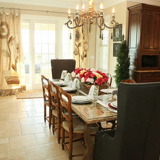 Traditional Dining Room by Julie Ranee Photography