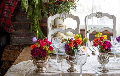 Есть идея: Три варианта новогоднего декора для одной столовой