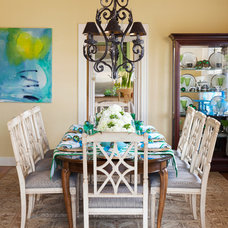 Beach Style Dining Room by Tobi Fairley Interior Design