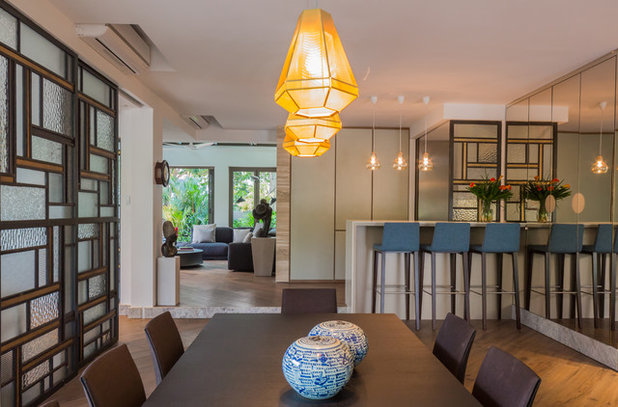 Contemporary Dining Room by d'apres nous D&B pte ltd