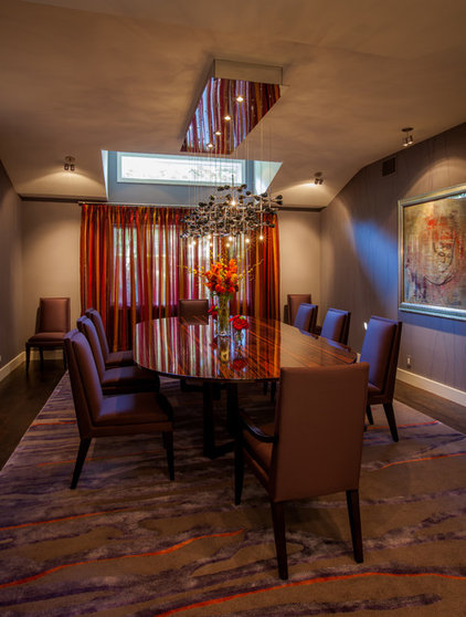 contemporary dining room by Key Residential
