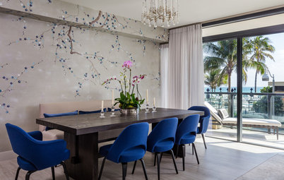 Houzz Tour: Miami Penthouse Gets a Jackie O-Inspired Look