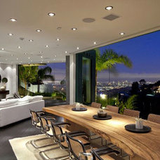 Contemporary Dining Room by Lisa Vail Design