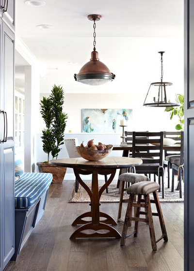 Transitional Dining Room by Janette Mallory Interior Design Inc.