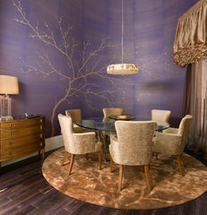 contemporary dining room by Peg Berens Interior Design LLC