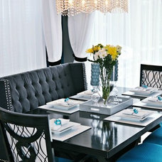 Contemporary Dining Room by Nicole White Designs Inc