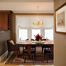 Transitional Dining Room by Inspired Interiors