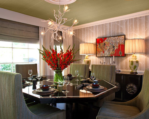 Dining room floral centerpieces houzz for Centerpiece on dining room table