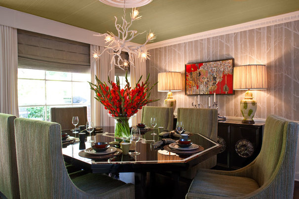 Transitional Dining Room by Elizabeth Gordon