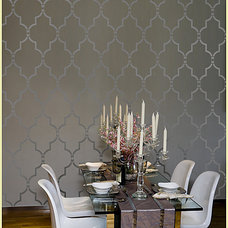 Modern Dining Room by Janna Makaeva/Cutting Edge Stencils