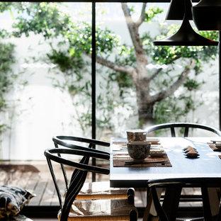 Aménagement d'une salle à manger asiatique.
