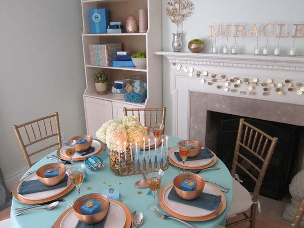 Transitional Dining Room by Rita from Design Megillah
