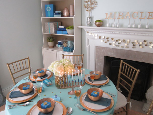 decorating dinner table