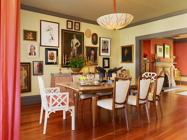 Eclectic Dining Room by Jeffers Design Group