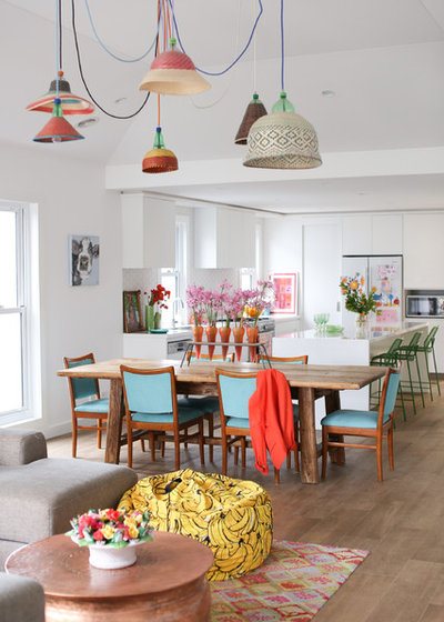 Eclectic Dining Room by Sophie Hansen