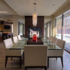 Contemporary Dining Room by London Audio Ltd