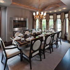 Contemporary Dining Room by Lionsgate Design
