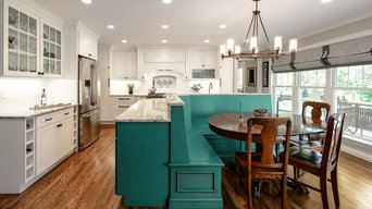 Home Remodel with Unique Teal Kitchen