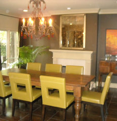eclectic dining room by B. Barganier Interiors