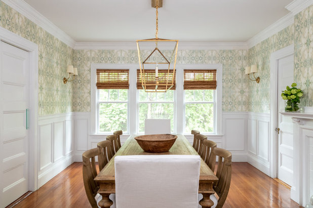 Farmhouse Dining Room by kelly mcguill home