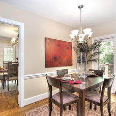 Traditional Dining Room by Paisley Blaise Staging & Design