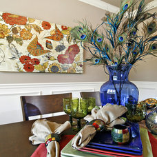 Contemporary Dining Room by StageRight Home Staging