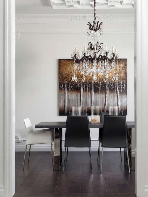 Sleek dining chairs houzz for Sleek dining room furniture