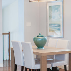 Transitional Dining Room by Upstaging