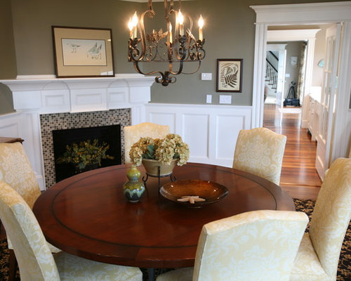 Olive green dining room design ideas remodels photos for Olive green dining room ideas