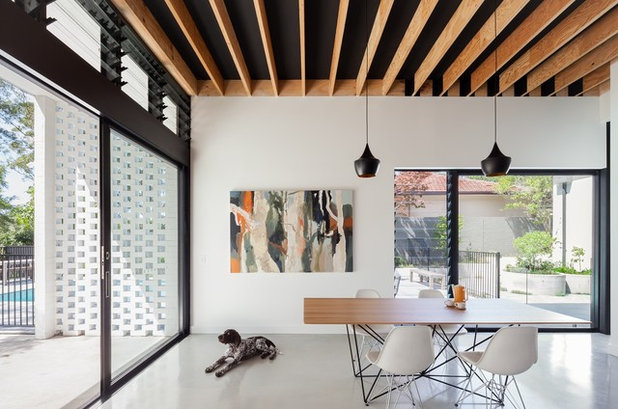 Contemporary Dining Room by Steele Associates