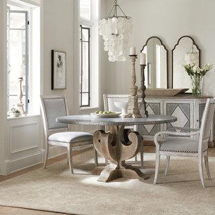 Dining room - scandinavian dining room idea in New York