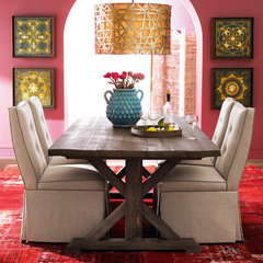 eclectic dining room by Horchow