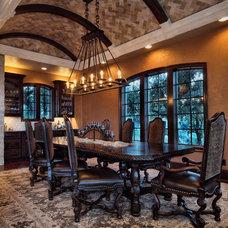 Mediterranean Dining Room by Zbranek & Holt Custom Homes
