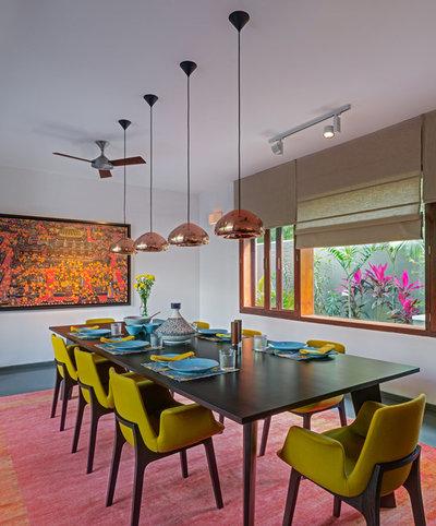Contemporary Dining Room by Khosla Associates