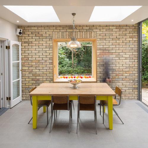 Foton och inspiration för moderna separata matplatser, med gula väggar