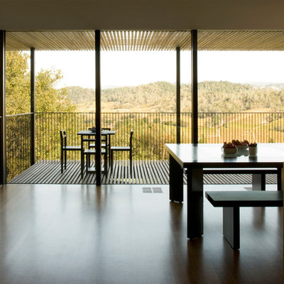 Inspiration for a contemporary dark wood floor dining room remodel in San Francisco